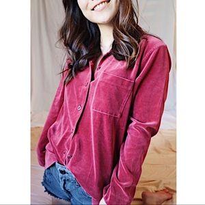 Liz Claiborne   Velvet Button Up   Size S
